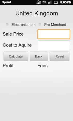 Calculator for Amazon US/UK 3