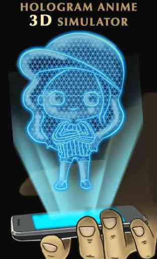 Hologram Anime 3D Simulator 1