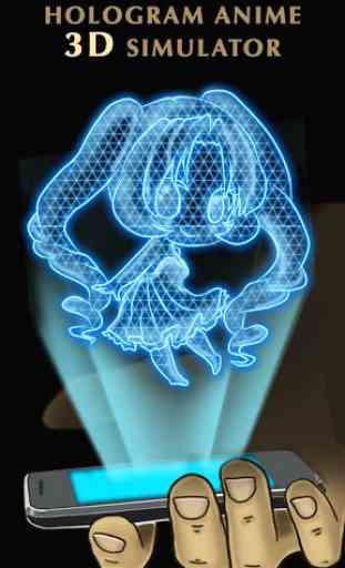 Hologram Anime 3D Simulator 3