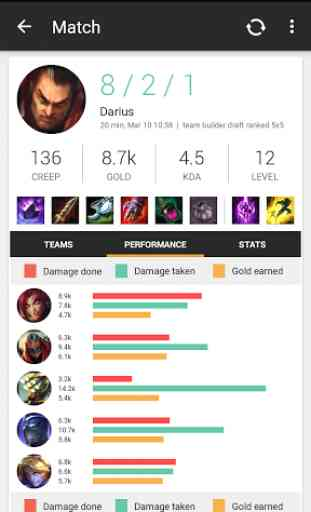 Match History for LoL 4