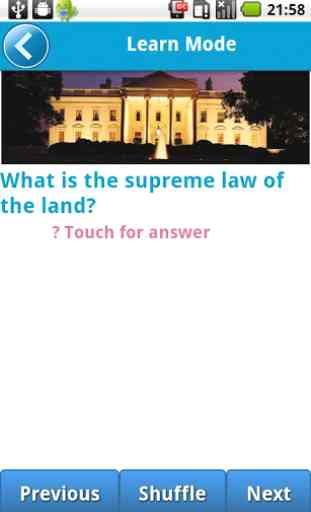 US Civics (Citizen) Test 1