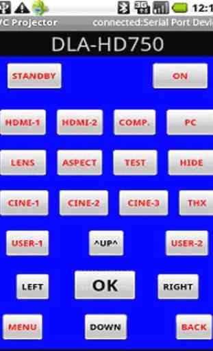 JVC Projector Remote Control 1