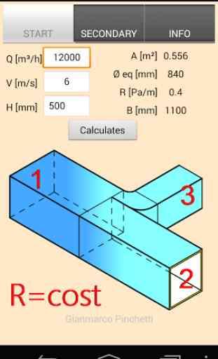 Duct Calc constant pressure 2
