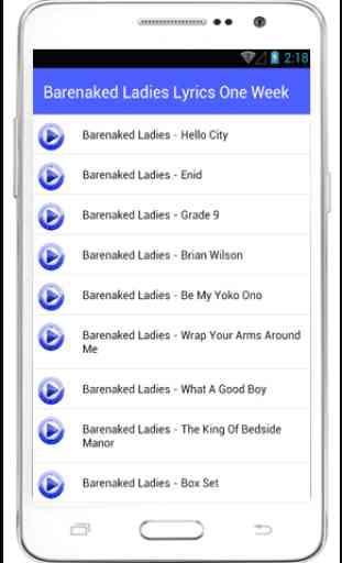 Barenaked Ladies Lyrics One 3