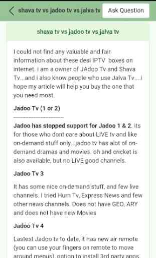 KnowledgeZone. Jadoo Tv Review 1