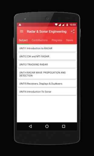Radar & Sonar Engineering 1