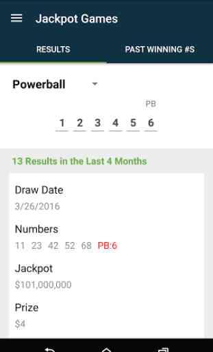 Colorado Lottery 4