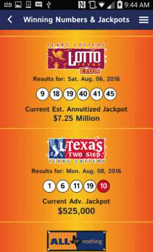 Texas Lottery Official App 3