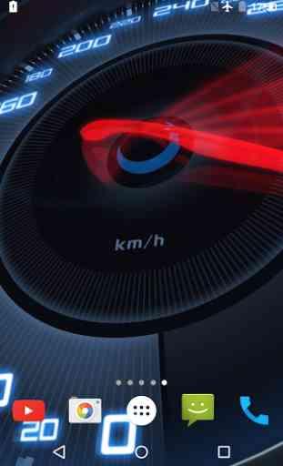 Speedometer Live Wallpaper 3D 1