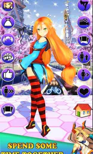 Virtual girlfriend 3D * anime 1