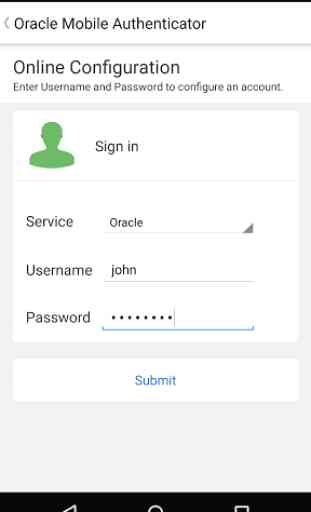 Oracle Mobile Authenticator 3