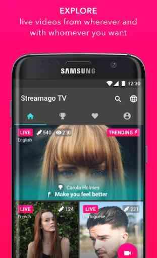 Streamago - Live Video Selfies 4