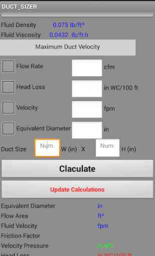 A Smart Duct Sizer 2016(Calc.) 4