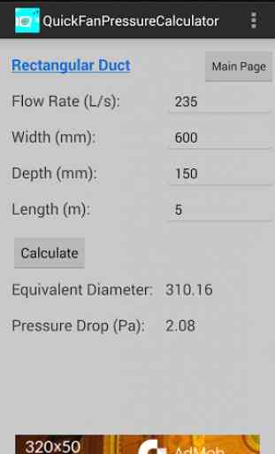 Quick Fan Pressure Calculator 4