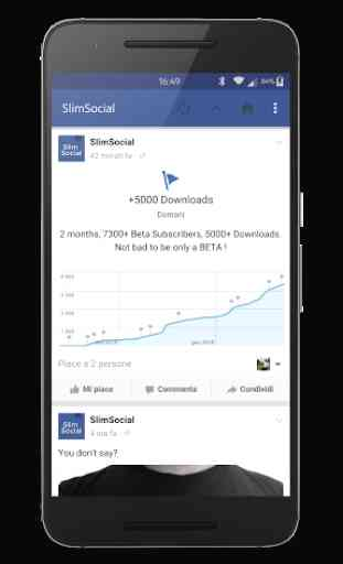 SlimSocial for Facebook 2