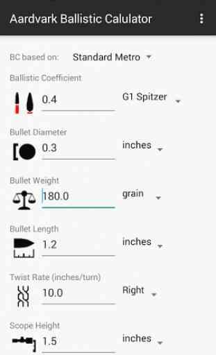 Aardvark Ballistic Calculator 2