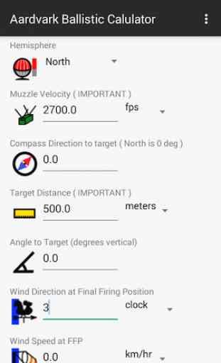 Aardvark Ballistic Calculator 3