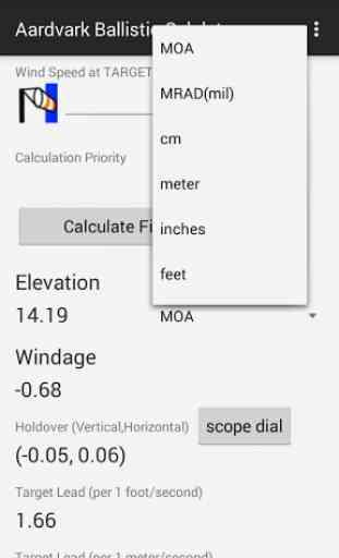 Aardvark Ballistic Calculator 4