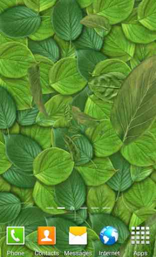 3D Leaves Live Wallpaper 4