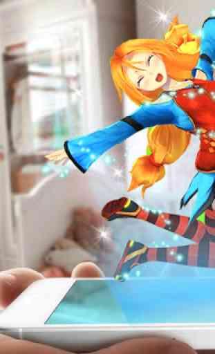 Virtual girl augmented reality 3
