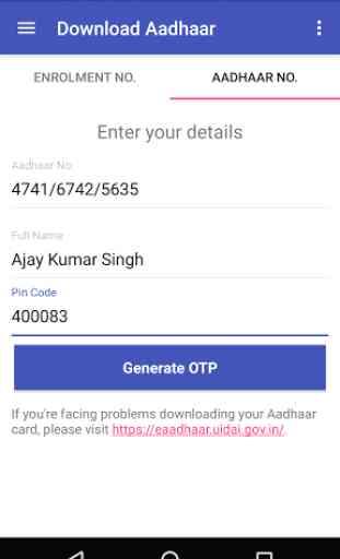 Aadhaar Card - Download/Update 2