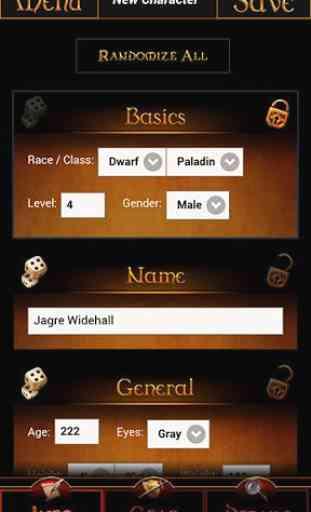 GM Wizard: Character Generator 2