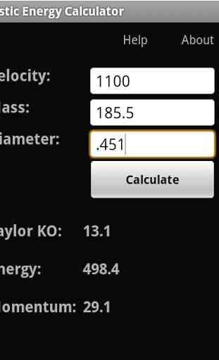 Ballistic Energy Calc 2