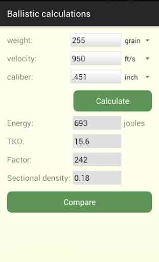 Cartridge calculations 1