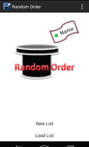 Random Order 1