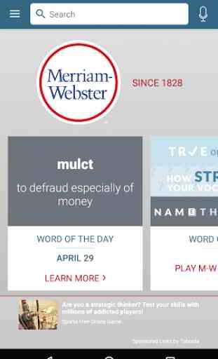 Dictionary - Merriam-Webster 1