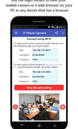 IP Phone Camera – View Camera on PC 2
