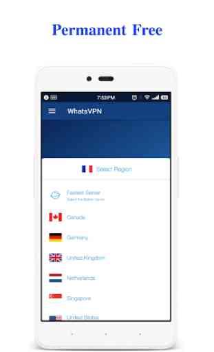 WhatsVPN - Unlimited Free VPN 3