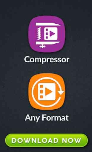 Video Converter, Compressor MP4, 3GP, MKV,MOV, AVI 1