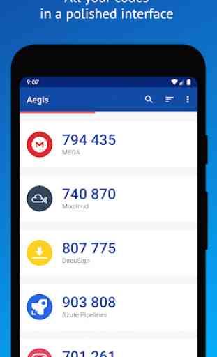 Aegis Authenticator - Two Factor (2FA) app 1