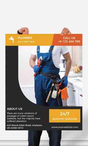Flyers, Poster Maker, Graphic Design, Banner Maker image 1