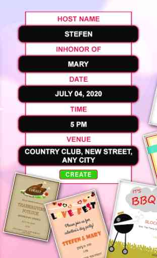 Video Invitation Maker: Video Cards & invites image 4