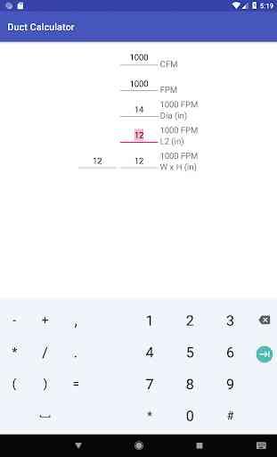 Duct Calculator 4