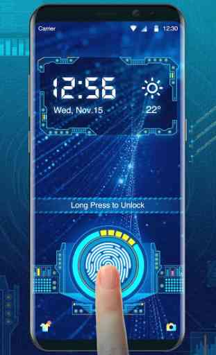 fingerprint style lock screen for prank 1