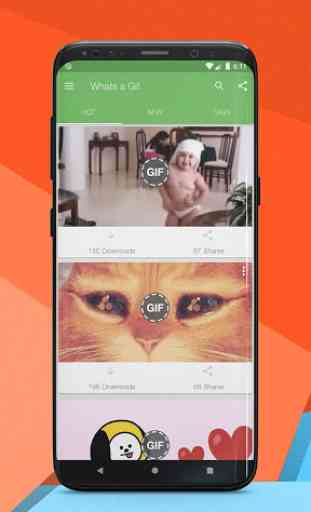 Whats a Gif - GIFS Sender(Saver,Downloader, Share) 1