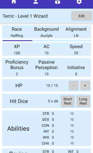 D&D Player Companion - Character Sheet & Dice App 2
