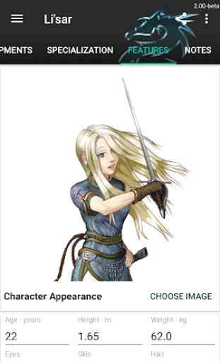 RPG - Character Sheet 4