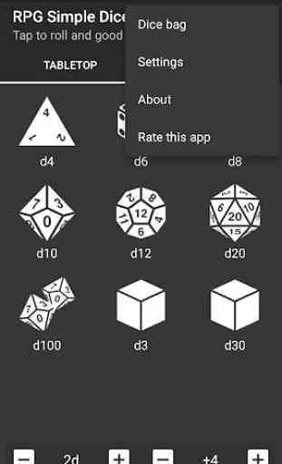 RPG Simple Dice 4