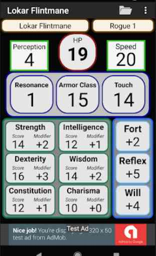 Second Edition Character Sheet 1