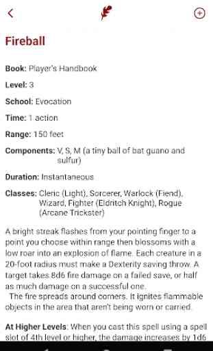 Spell List D&D 5th Edition 3