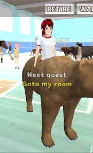 Animal School Simulator. girls and animal life 1