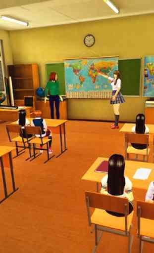 Virtual High School Girl Simulator Real Family 4