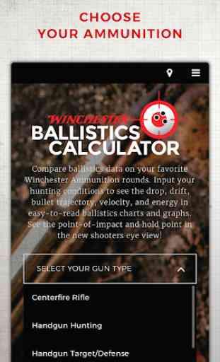 Winchester Ballistics Calculator 3