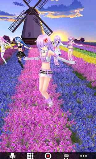 Dancing Girl MMD - Miku Live Anime|Camera AR Model 2