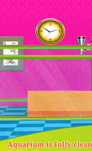 Fish Aquarium Wash: Pet Care & Home Cleaning Game 2