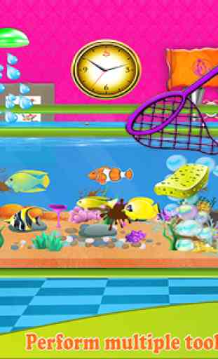 Fish Aquarium Wash: Pet Care & Home Cleaning Game 3